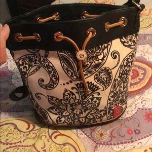 Spartina bucket handbag and wallet